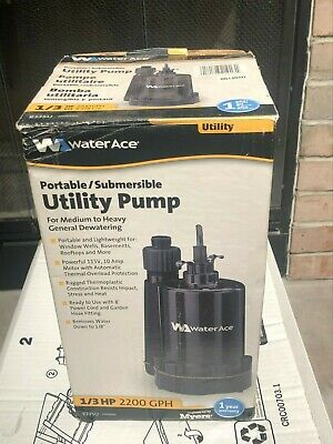 Water Ace Portable/Submersible Utility Pump 1/3 HP