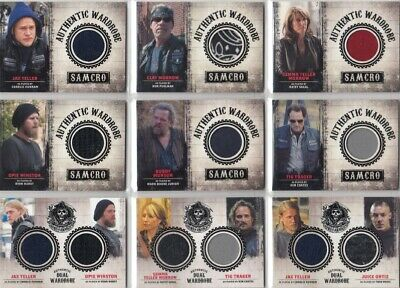 Sons of Anarchy Seasons 1-3 Costume Wardrobe Card Selection