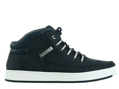 Timberland Men's Davis Square Fabric and Leather Chukka High top Sneakers