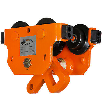 Prowinch 5 Ton I Beam Manual Pushing Trolley with rubber bump stops