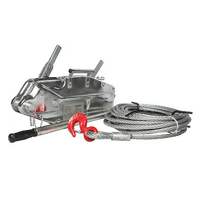 Prowinch 7040 lbs. Lever Cable / Wire Rope Puller Hoist 65 ft. Steel Body