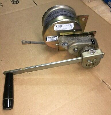 """THERN M4022PB 1000lb Hand Winch Marine Duty w/Brake for Lifting w/1/8"""" Wire Rope"""