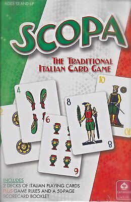 Scopa Classic Italian Card Game Gamer/'s Edition Sealed New The Spiel  GM1998