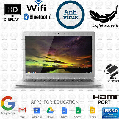 Toshiba Chromebook 13.3 in Students Laptop Computer Dual Core SSD WiFi HDMI