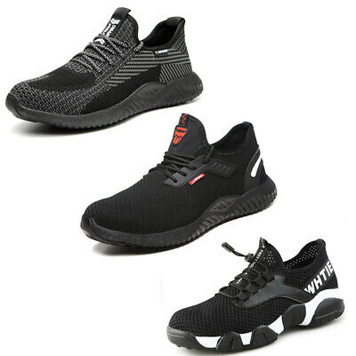 Black Lightweight Safety Trainers Shoes Women Work Boots Steel Toe Cap Composite