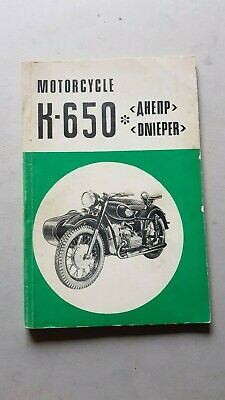 DNEPR 650 Sidecar 1970 manuale uso originale owner's manual