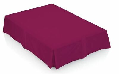 Berry Double Valance Sheet Bedding Plain Pleated RP792