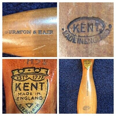 Vintage G.B Kent Sons Wood Pure Bristles Curve Clothes Brush #H51 England
