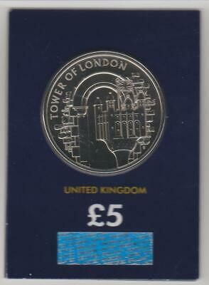 2020 UK £5 The White Tower Brilliant Uncirculated Certified Coin BU