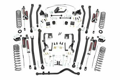 "Rough Country 4"" Jeep Long Arm Lift Kit Vertex Adj Resi Shocks 07-11 Wrangler JK"