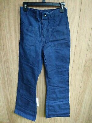 Us Navy Trousers Utility Dungaree Denim Jeans Seafarer Pants Bell Bottom