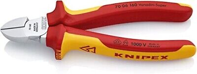 KNIPEX 70 06 160 Diagonal Cutter chrome plated Cable Side Cutters FREE P&P