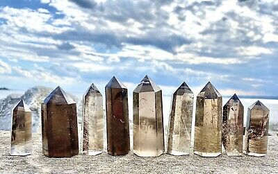 Wholesale Lot 1 Lb Smokey Quartz Obelisk Point Crystal Natural Energy Healing