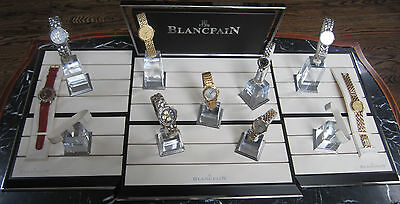 Large Genuine Blancpain Complete Multiple Wrist Watch & Chronograph Display Set
