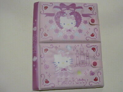 Sanrio Hello Kitty Pink Folder Address Note Pad Picture Sleeves Stickers  2004