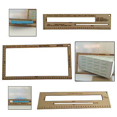 Small packet size ruler template gauge slot 20mm for Canada Post Norway Germany