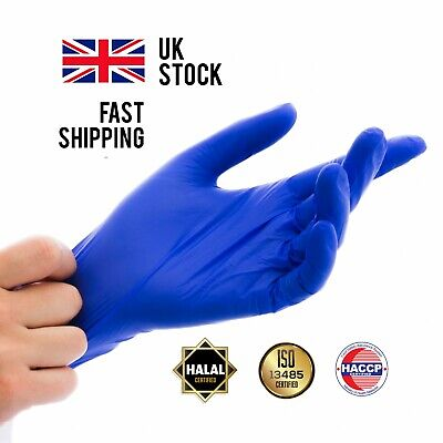 Nitrile Disposable Gloves L M Large Medium Powder Latex Vinyl Rubber Free HERMES