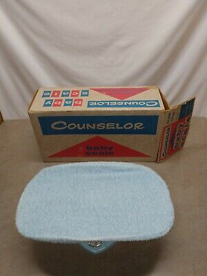 Vintage Counselor Metal Baby Scale 50s Original Box In Great Shaped!