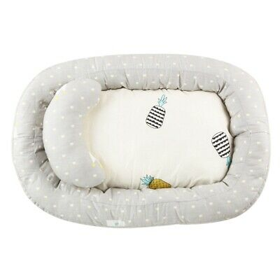 1set Baby Bed And Pillow Travel Infant Cot Soft Comfort Side Sleeper Toddler Bed