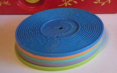 1971 Fisher Price Records Child's Pretend Play Musical Toy Double Sided Lot Of 5