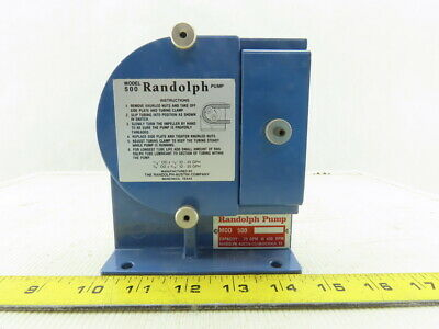 Randolph Model 500 .75 GPM @ 430RPM Rotary Peristaltic Chemical Pump