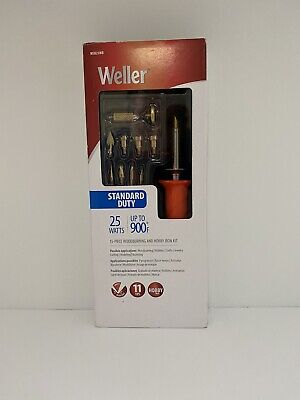 Weller Short Barrel Wood Burning Iron Tool Tips Kit Stencil Pyrography Jewelry