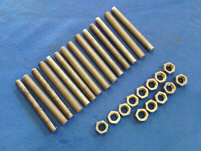"""(14) 3/4""""-16 X 6"""" Stainless Steel Threaded Rods & (13) Nuts"""