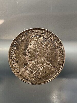 Canada 1919 Fifty 50 Cents Half Dollar George V Silver Coin, 4/17/20 Free Ship