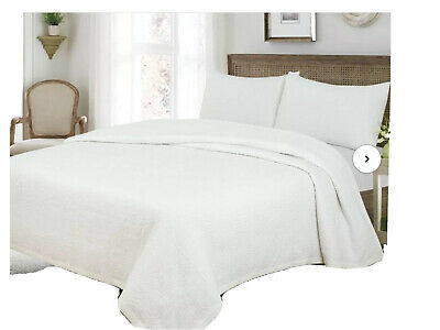 FRENCH COTTAGE TILE COVERLET BLUSH PINK MATELASSE 3pc Full Queen QUILT SET