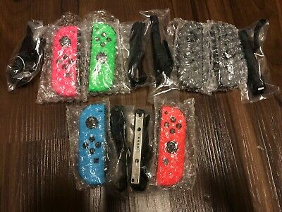 Grade A+ Mint Nintendo switch Joy con left neon blue right red pink green Grey