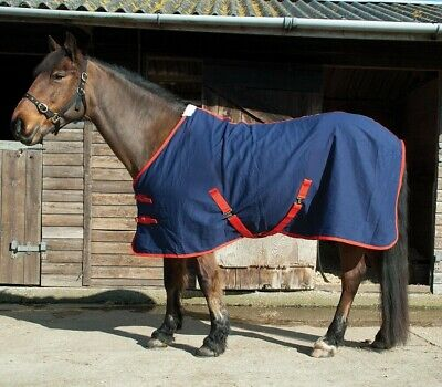 SALE OFFER ONLY £13.85 NEW Rhinegold Horse 100% Cotton Summer Sheet Navy Red