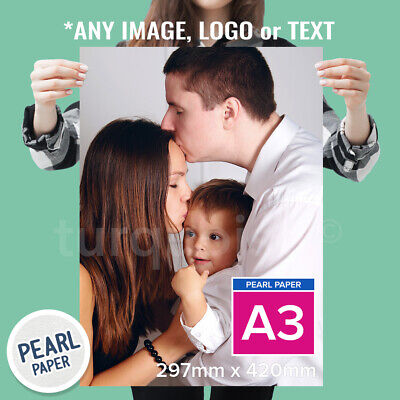 A3 Pearl Paper Personalised Photo Print Picture Image Print Poster 300gsm