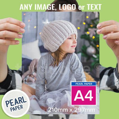A4 Pearl Paper Personalised Photo Print Picture Image Print Poster 300gsm