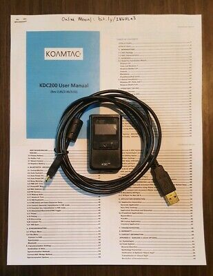 Koamtac Bluetooth Barcode Scanner KDC200 w/Manual, USB Cord KDC200i Bookselling