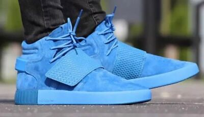 Adidas Mens Tubular Invader Strap Hi Top Trainers Shoes Blue BB1170 RRP £100
