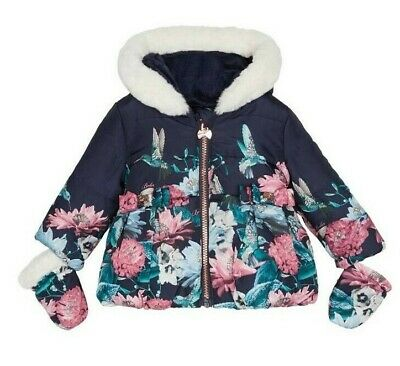 Ted Baker Baby Girls Coat Jacket Age 3-6 Months Quilted Shower Resistant NEW