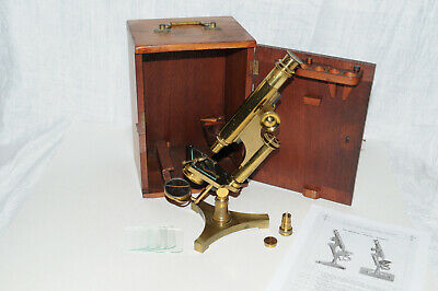 """Antique Microscope R & J Beck """"Economic"""" #26B Made 8 Oct 1890 sold by WB+E Phil"""