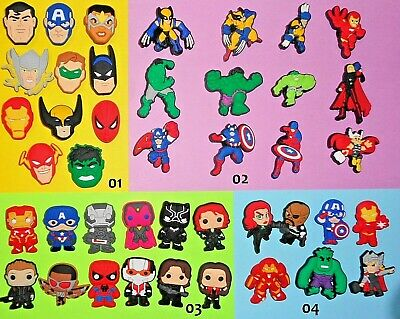 Shoe Charms Super Hero Shoe Buttons Plugs Shoe Accessories Shoe Decorations