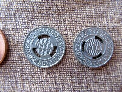 Illinois IL Transit Token Chicago Transit Authority CTA Surface System Chicago