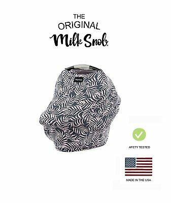 The Original Milk Snob gray/pink FERN Carseat Cover/Nursing Cover *DISCONTINUED!