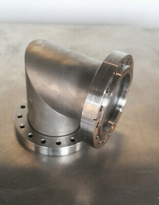 "MDC Huntington Conflat High Vacuum Flange 6"" CF Elbow //  90˚ Mitered"