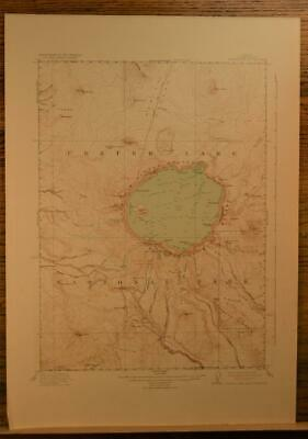 Crater Lake National Park Antique Topographic Map Printed 1931 17x25