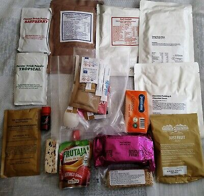 British Military Army 24 hour Ration pack camping MRE Meals 1-14 Pack date 09//18