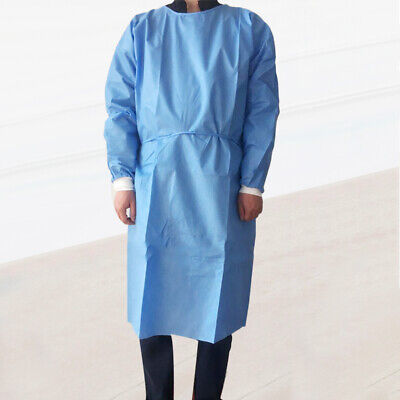 1PC Unisex Disposable Non Woven Drawstring Isolation Breathable Protective Suit