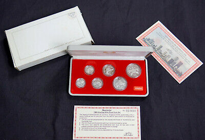 Singapore 1985 Sterling Silver Proof Set