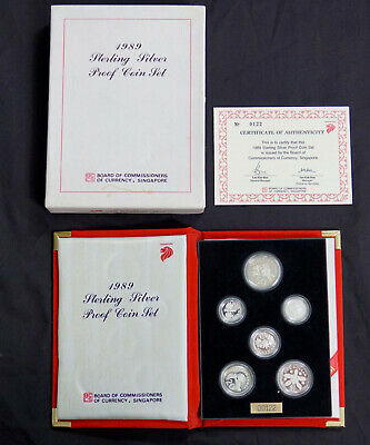 Singapore 1989 Sterling Silver Proof Set