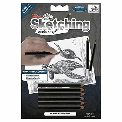 ROYAL BRUSH Mini Sketching Made Easy Kit, 5 by 7-Inch, Sea Turtles#79