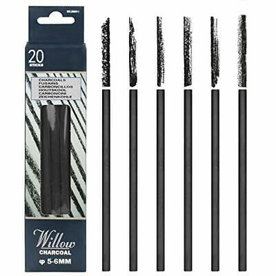 MyLifeUNIT Vine Charcoal, Artist Charcoal Pencils for Drawing, Pack of 20 (5-#74