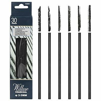 MyLifeUNIT Vine Charcoal, Artist Charcoal Pencils for Drawing, Pack of 30 (3-#73