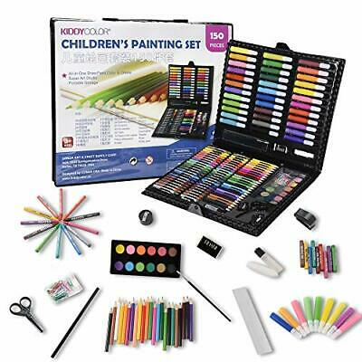 KIDDYCOLOR 150 Piece Deluxe Art Creativity Set for Kids with Plastic Art Case#44